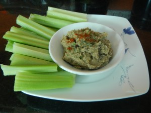 Quick and Easy Roasted Eggplant Hummus recipe