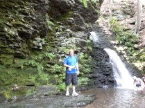 Kenin enjoying Bushkill Falls Pennsylvania