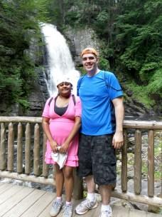 Kenin and Lauren at Bushkill Falls