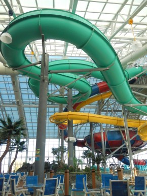 Our hotel's water park