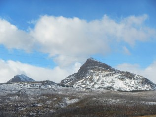 Snow capped peaks in Glacier National Park