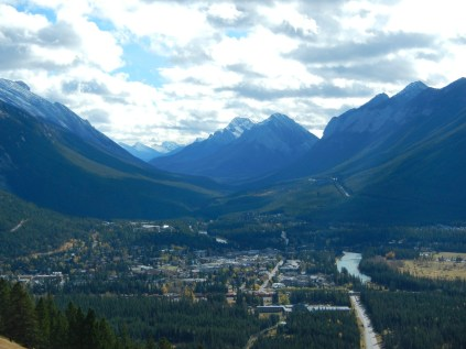 View of Banff from Mount Norquay