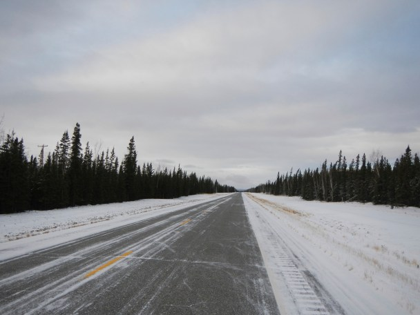 Hitting the Alaskan Highway on the way to Fairbanks