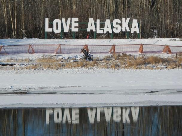 Love Alaska Sign   Pikes Landing   Fairbanks Alaska