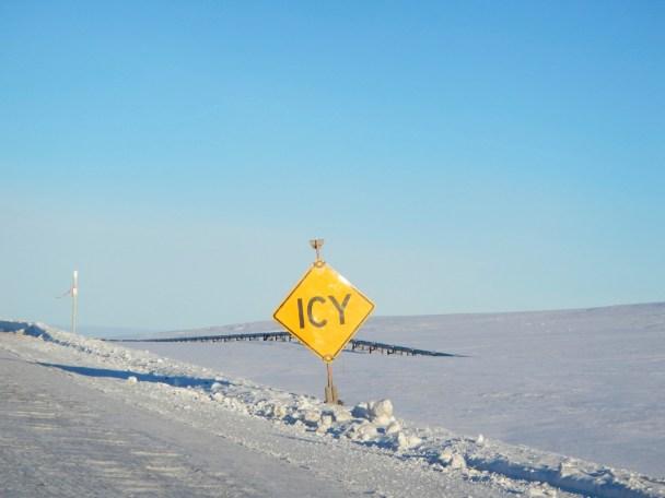 Redundant Warning Sign Dalton Highway