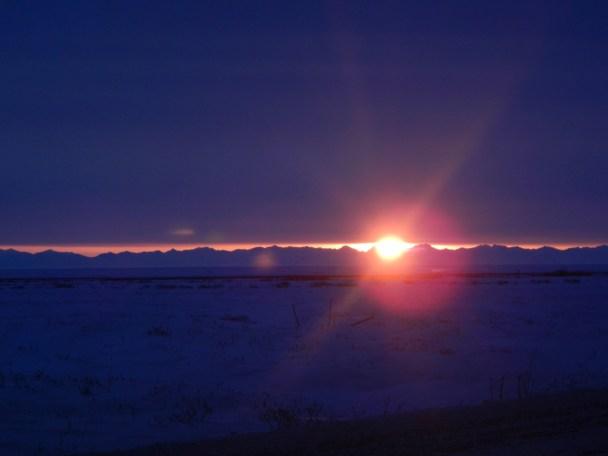 Sunrise from Alaska's Dalton Highway