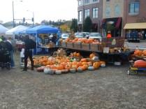 Pumpkins at Scarecrow Fest St. Charles IL 2012