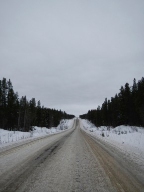 Driving along the Cassiar Highway
