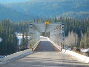 Bridge along the Cassiar highway