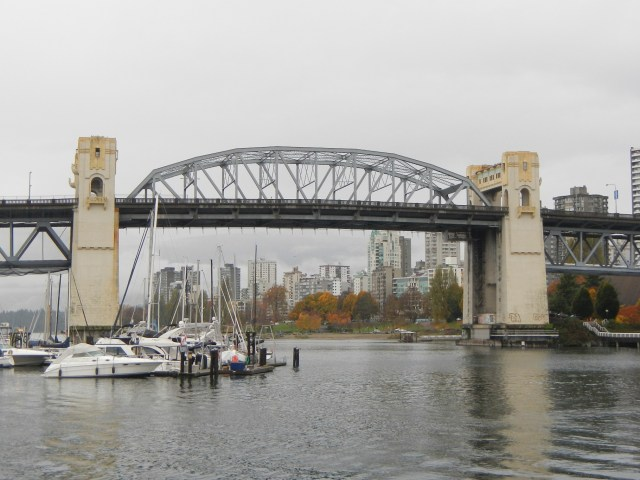 One of many bridges into Vancouver