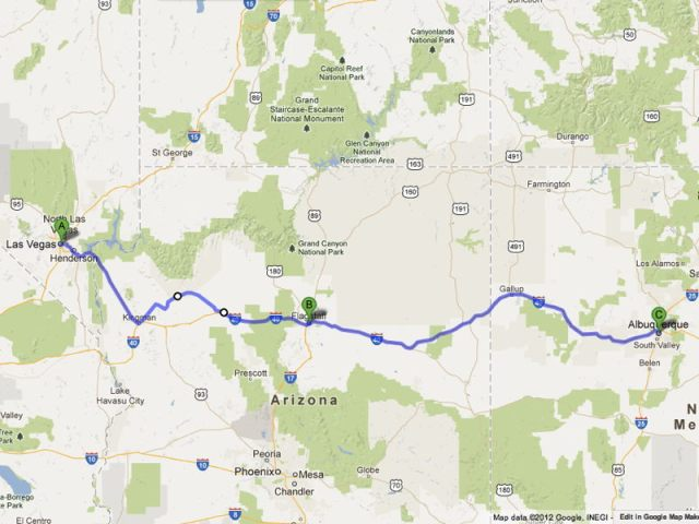 Road Trip Route 66 Las Vegas to Flagstaff to Albuquerque