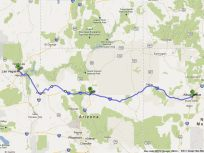 Road Trip Route from Las Vegas Flagstaff AZ Albuquerque NM