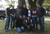 Kenin & Lauren (far right)and the rest of the clan