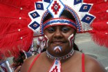 Closeup of Lauren - Carnival in Trinidad