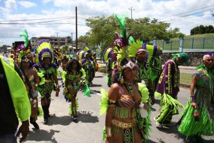 Playing Mas Carnival in Trinidad
