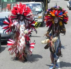 Pair of Bustle Dancers - Carnival in Trinidad