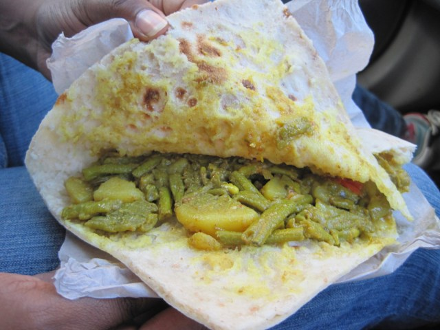 Curried Vegetable Roti - Trinidadian Street Food Guide