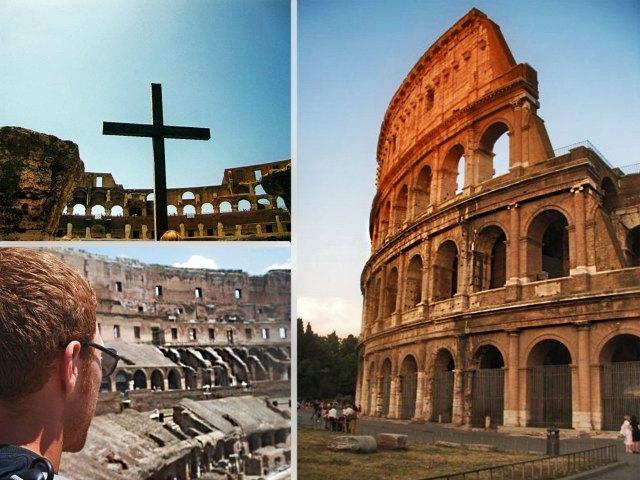 The  Colosseum Rome Collage
