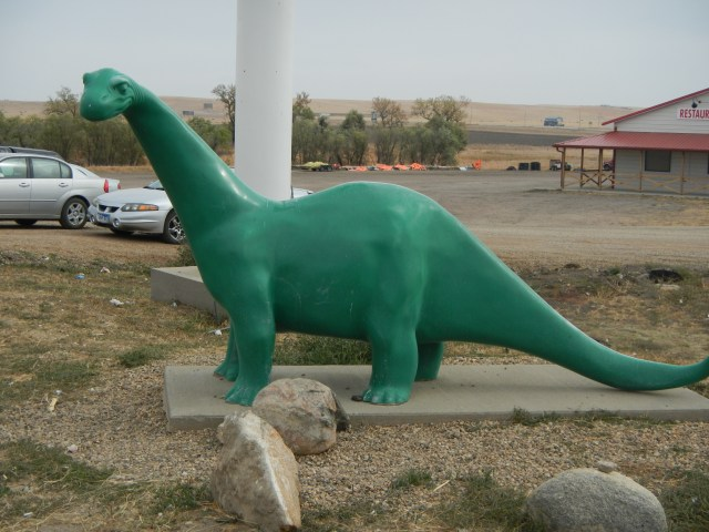 Green Dinosaur Sinclair Gas