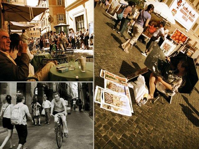 Roman Streets Collage
