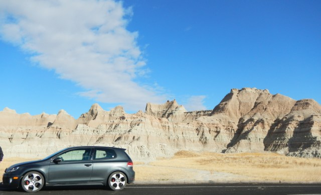 VW GTI at the Badlands