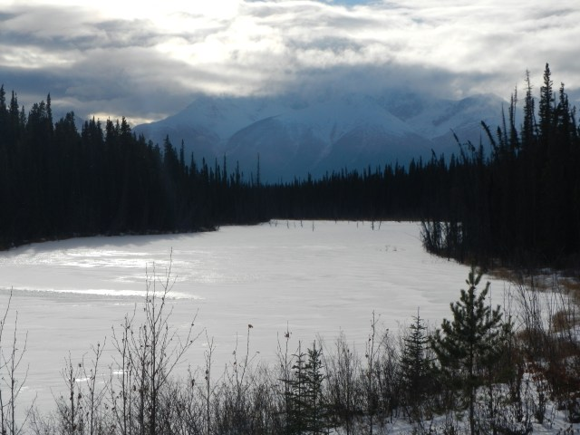 Stunning Frozen Lake on the Cassiar