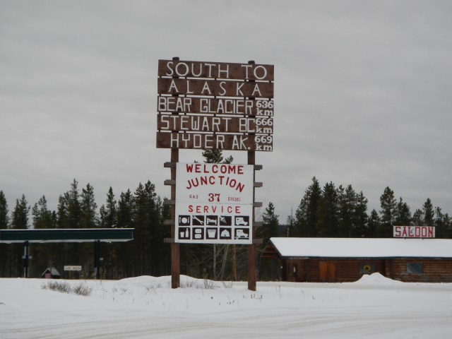 Entrance to Cassiar Highway HWY 37