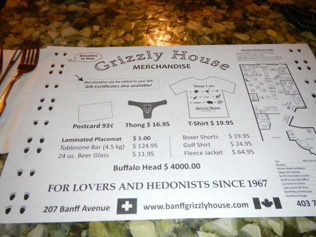 GrizzlyHouse Place mat