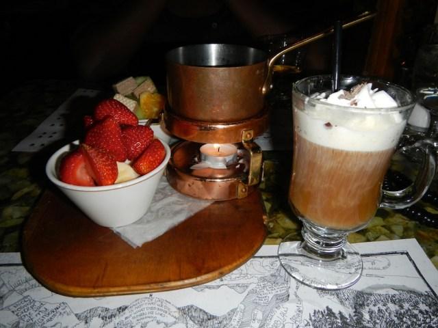 Chocolate Fondue and Irish Coffee