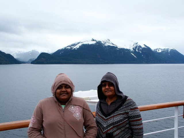 View of Alaska from ship
