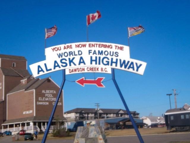 Alaska Canada Highway Road Trip Starting Point