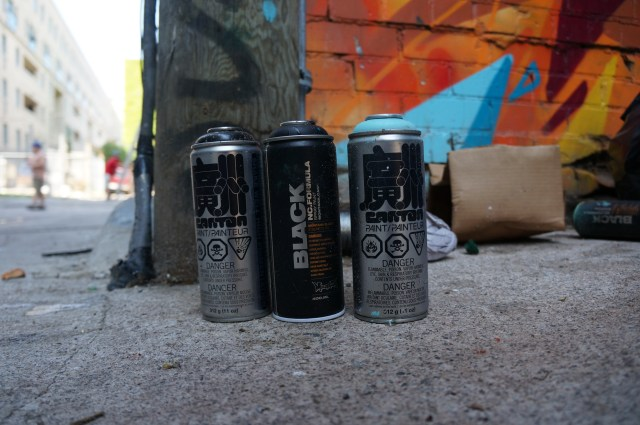 Set of 3 Spray Paint Cans