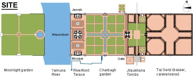 Taj Mahal Site Map