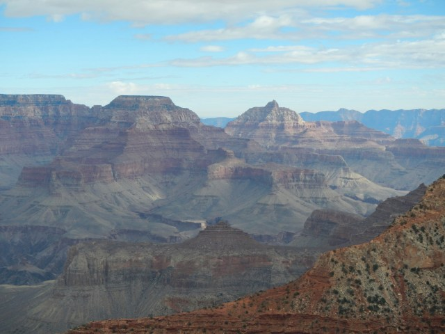 Staring into the Grand Canyon in Arizona