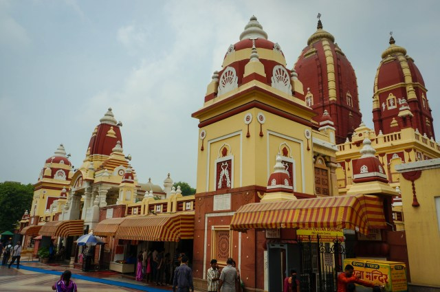 Approaching the Laxmi Narayan Birla Mandir