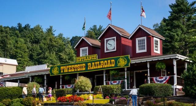 The Entrance tot he Tweetsie Railroad Park in Boone NC