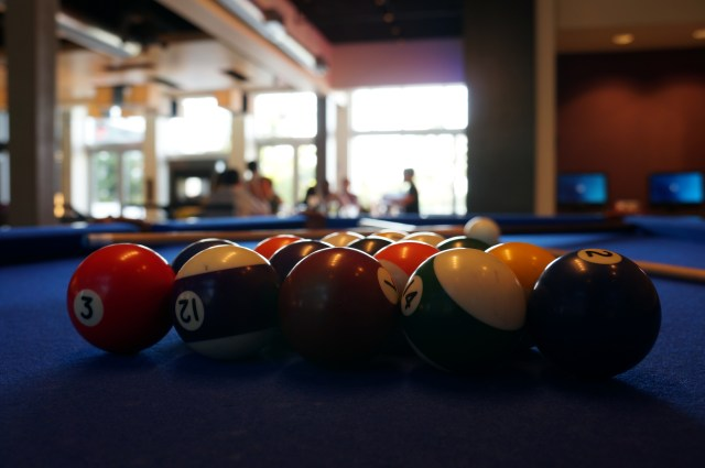 pool table at the aloft hotel miami