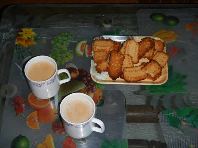 Tea and traditional Punjabi Indian biscuits
