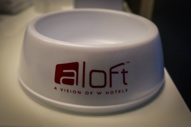 Aloft Hotel Dog Bowl