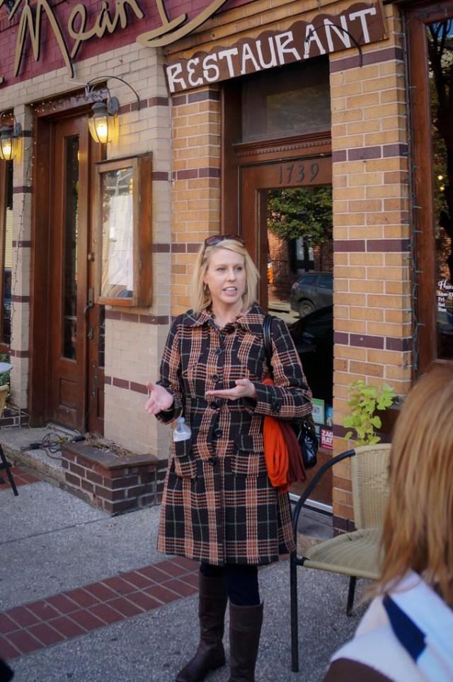 Our food tour guide Jennifer!