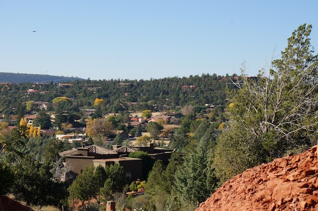 Looking down onto Sedona, AZ from the Hill tops