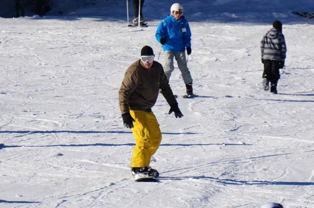 snowboarding in Nakiska Kananaskis