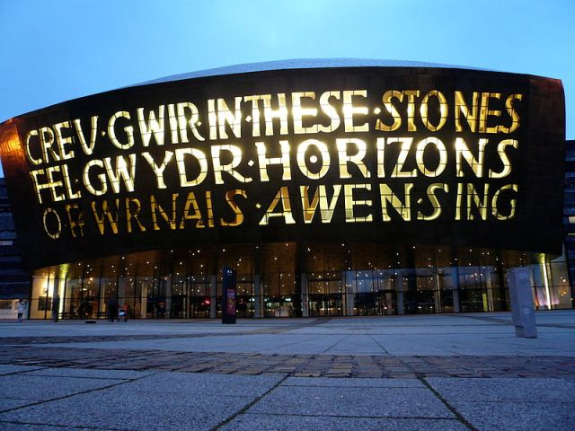 Millenium Centre Cardiff : Credit: Flickr by TFDuesing