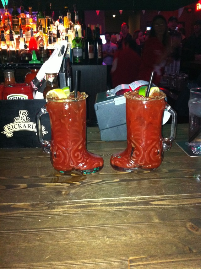 Nothing like a cocktail in a cowboy boot