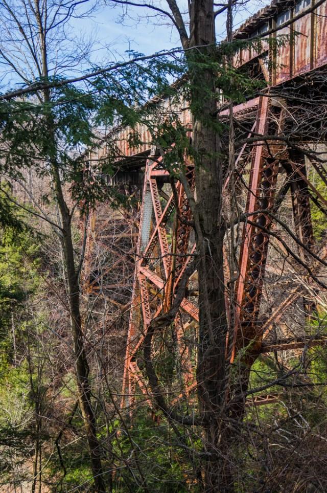 Train Bridge over the Watkins Glen Gorge