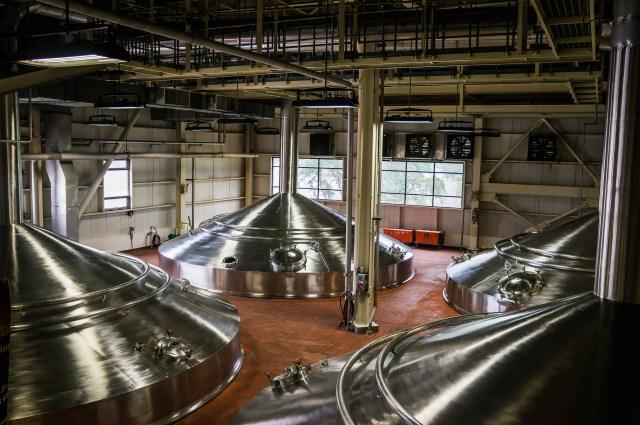 Budweiser Brew Tanks