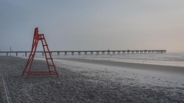 Lifeguard stand on Jacksonville Beach