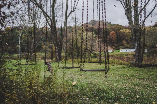 Abandoned Amusement Park Swingset
