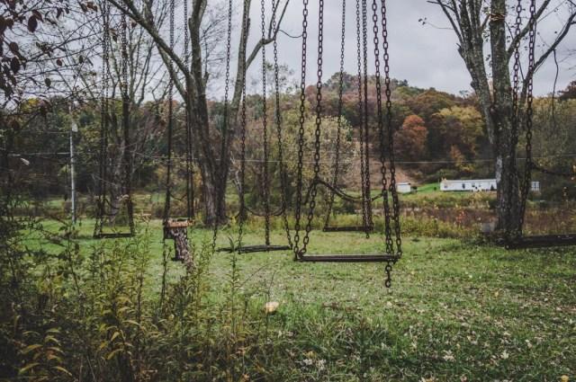 Abandoned Amusement Park Swingset