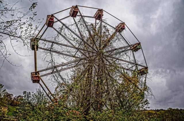 abandoned lake shawnee ferris wheel